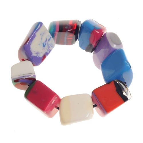 Jackie Brazil Pop Art Resin Bracelet in Mixed Colours